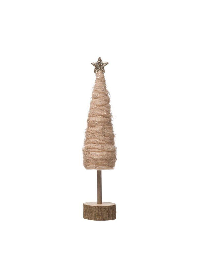 Wool Tree w/Glitter and Star