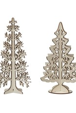 Wood Interlocking Laser Cut Tree, 2 styles