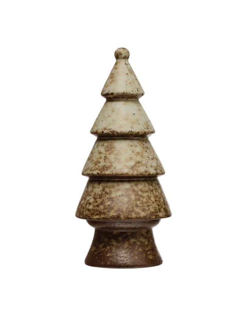 Round Stoneware Reactive Glaze Tree