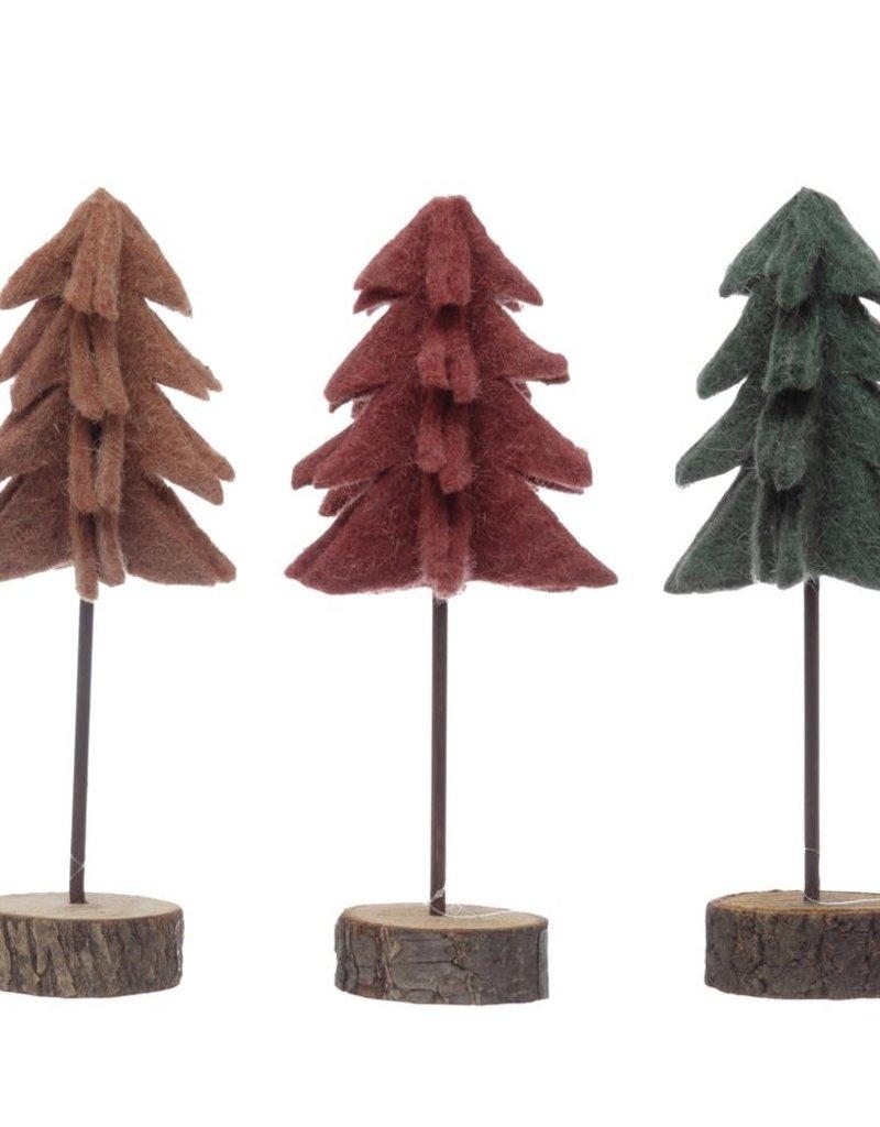 "9.75""h Felt Tree, 3 Styles"