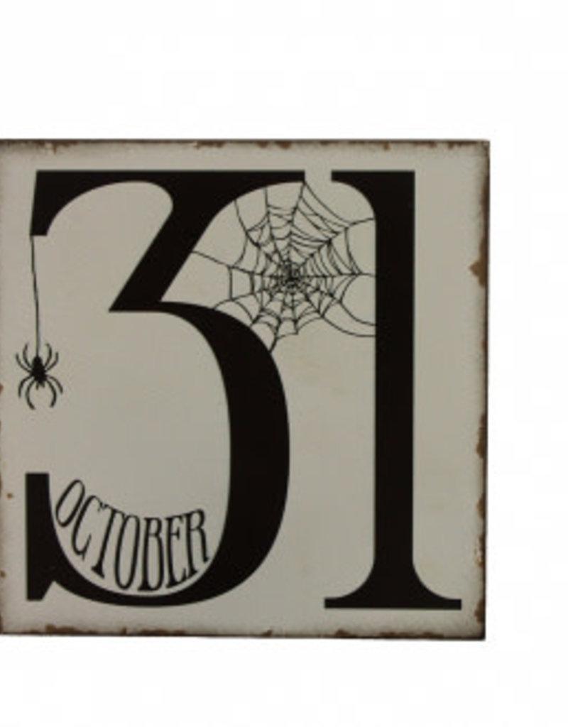 October 31 Block Sign