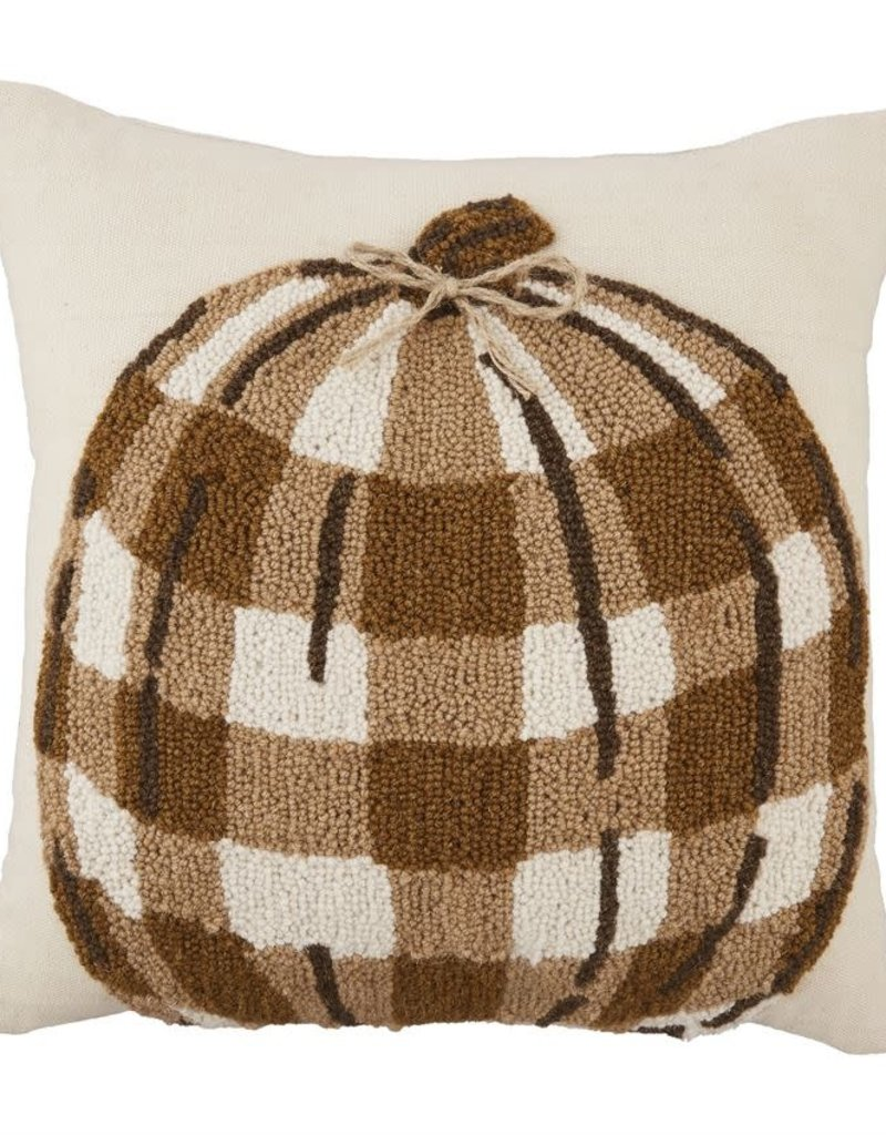 Raised Hook Pumpkin Pillow