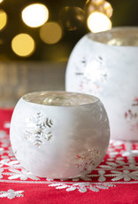 Glass Snowflake Patten Holder