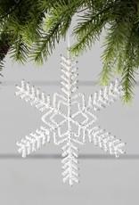 Pearl Beaded Snowflake Ornament