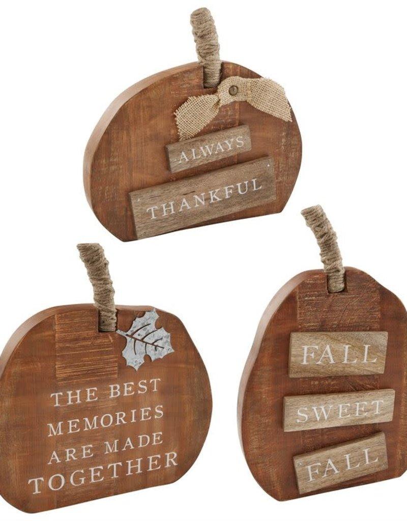 Wood Pumpkin Sitter