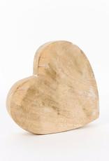 Mango wood Shaped heart