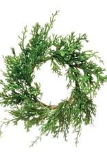"""4.5"""" Round Pine Wreath"""
