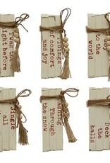 Wood Block Bundle w/Saying