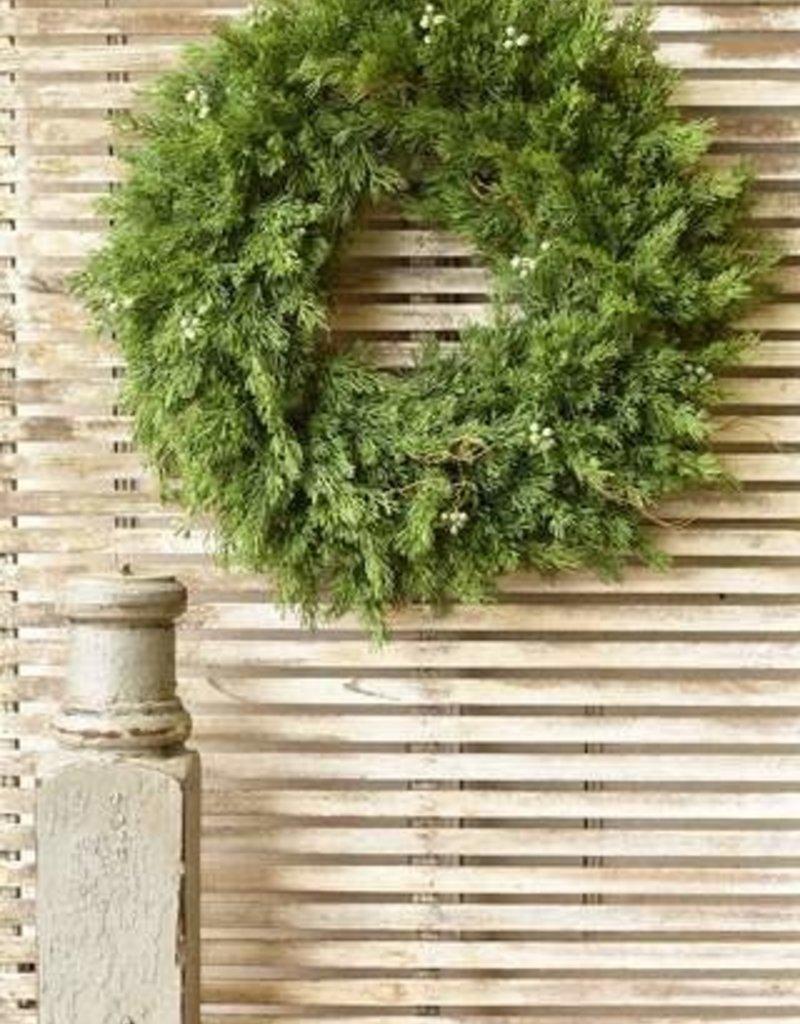 """20"""" Dripping Cedar Hanging Wreath"""