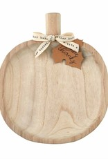Round Paulownia Pumpkin Tray