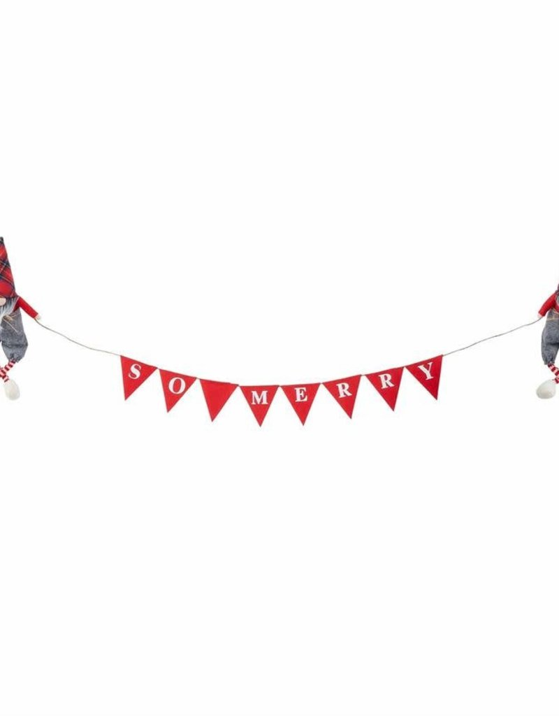 Gnome Xmas Mantle Banner