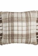 Tan Plaid Brushed Pillow