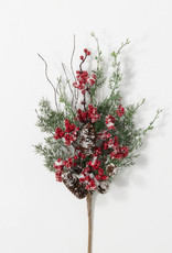 Snow Dusted Pine/Berry Spray