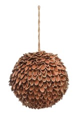 Round Pineseed Shell Ornament