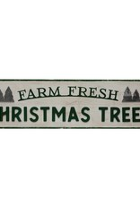 Wood/Metal Farm Fresh Tree Sign
