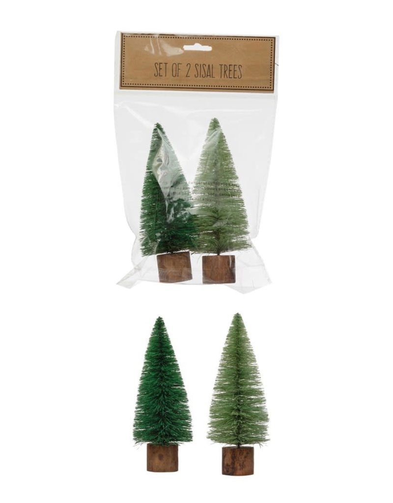 "S/2 Bagged Sisal Tree, 5.5"""