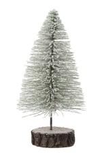 """9""""H White Bottle Brush Tree"""