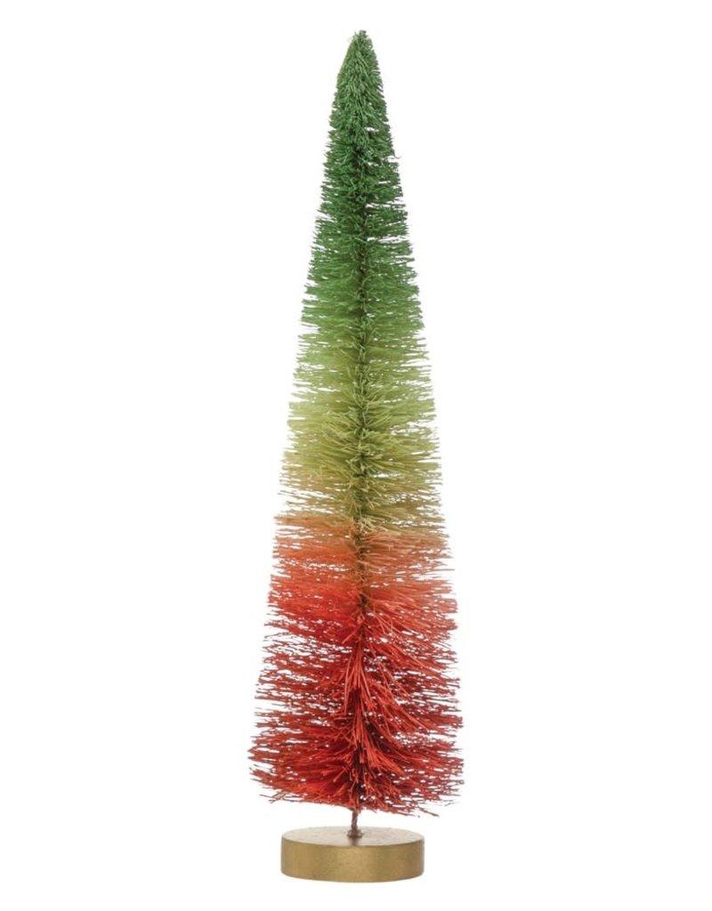 Red Ombre Sisal Bottle Brush Tree