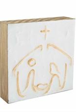 Nativity Block Plaque