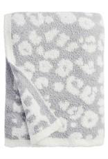 Leopard Blanket Gray