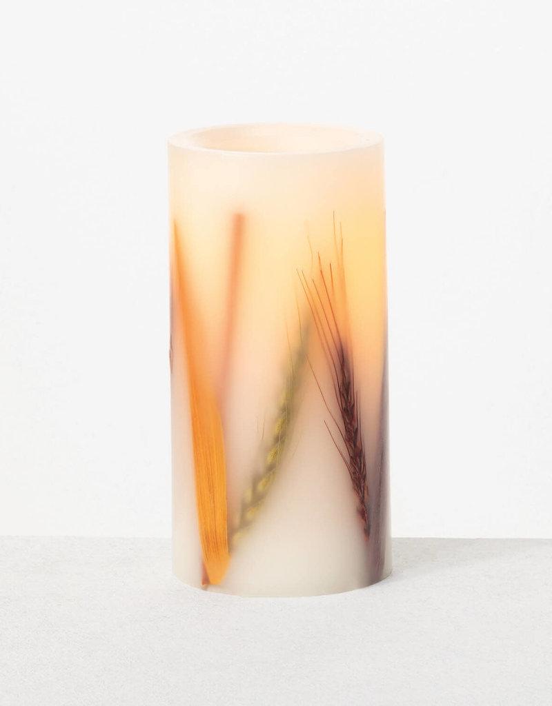 Dual Wheat Pillar Candle