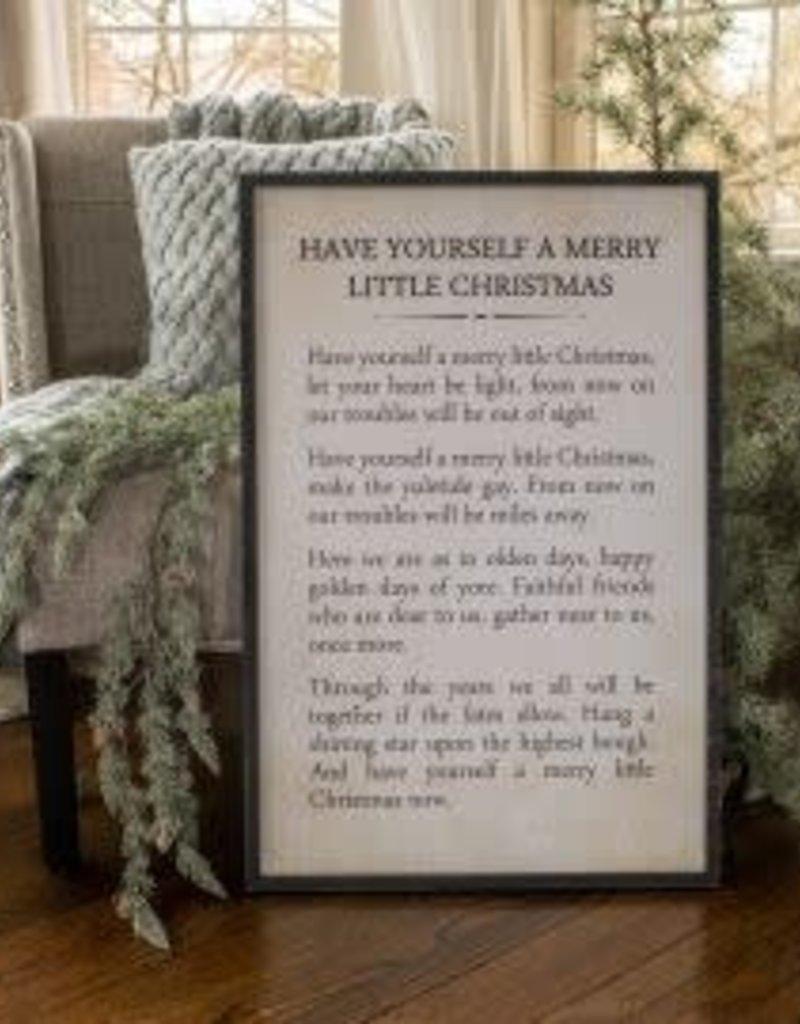 Merry Little Christmas Sign