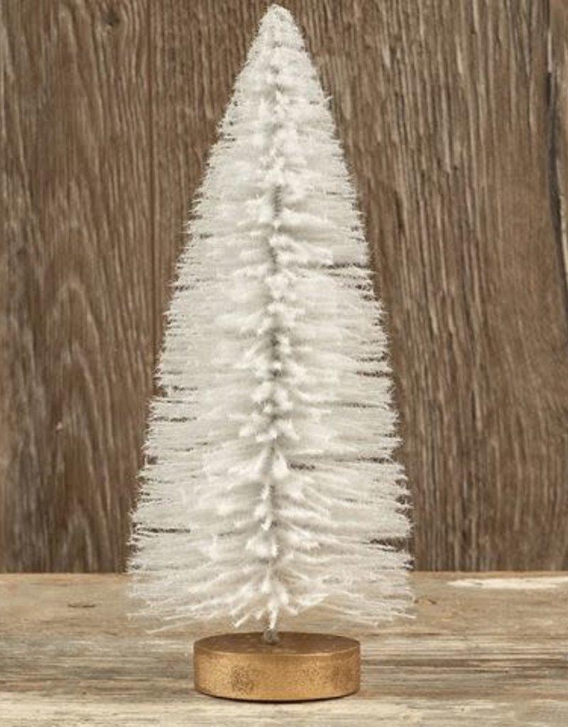 White Flocked Bottle Brush Tree