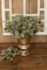 "14.5"" Angel Pine & White Cedar & Eucalyptus Bush"