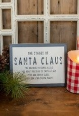 """7"""" Stages of Santa Sign"""