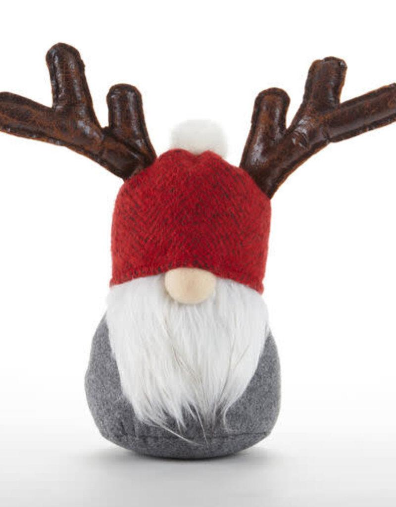 Red Hat Moose Santa Stump
