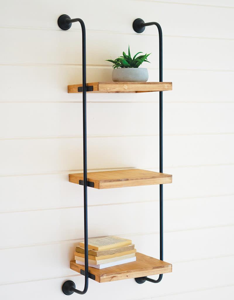 Wall Ladder Tiered Shelf