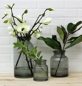 Gray Glass Vases