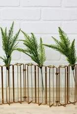 Metal & Glass Jointed Vase w/ 9 test tubes