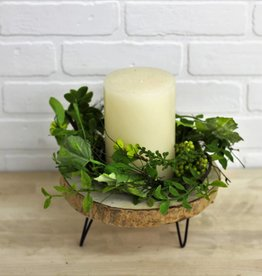 Foliage  Berry Wreath Candle Ring
