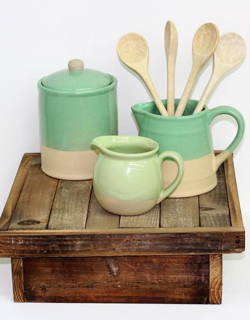 Stoneware Pitcher green