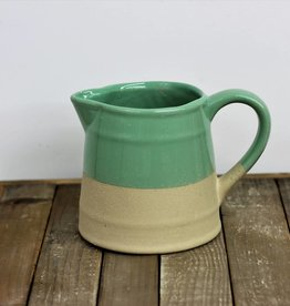 Stoneware pitcher, teal