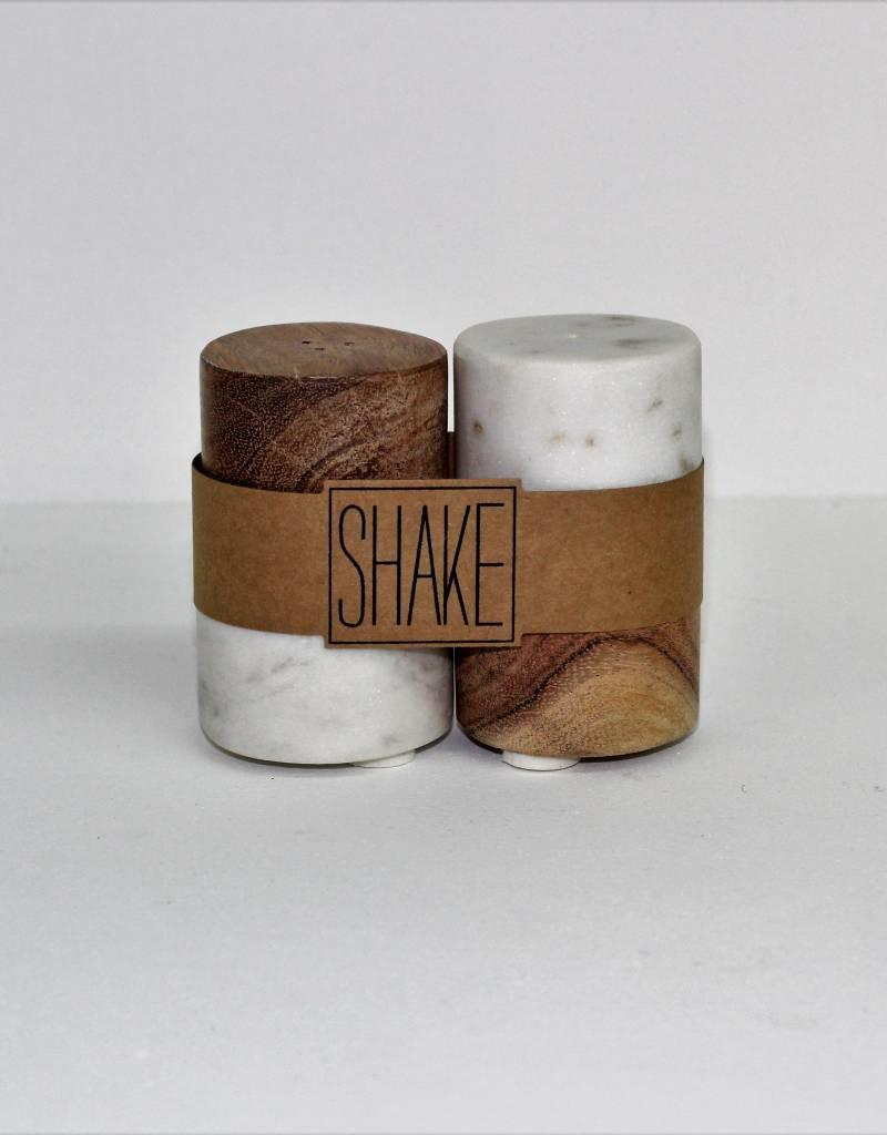 Marble/Wood Salt and Pepper Shaker