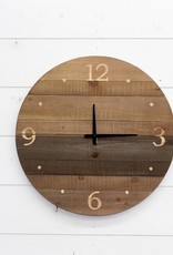 Round Wood Laser Cut Wall Clock
