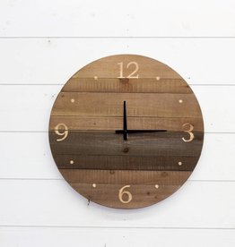Round Wood Laser Cut Wall Clock