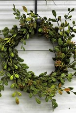 English Boxwood wreath candlering