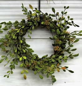 Small English Boxwood wreath candlering