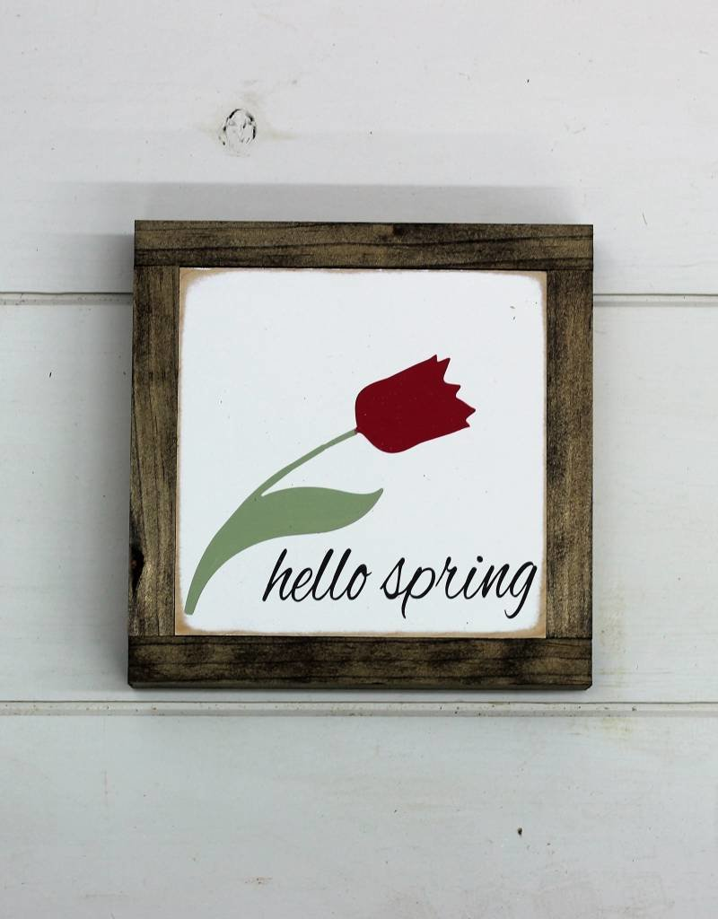 Hello Spring Tulip (Mini Signs)