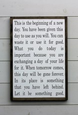 This is the Beginning of a New Day