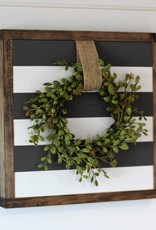 Striped Sign w/ Wreath