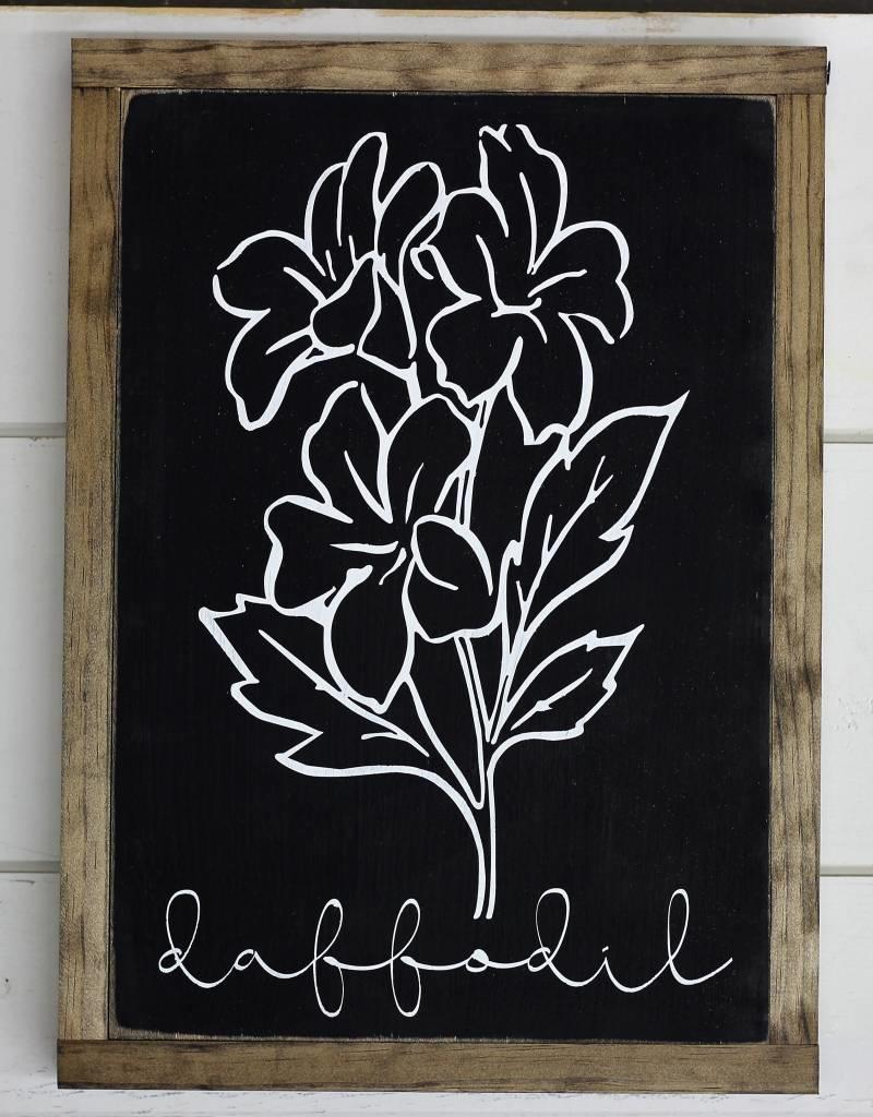 Black Flower Signs (3 variations)