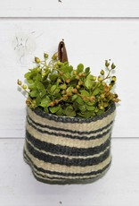 Jute Wall Basket with leather loop