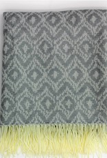 Jacquard Throw Grey