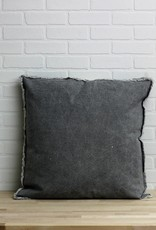 Gray Wash Canvas Pillow