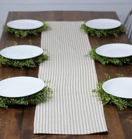 Tan & Cream Stripe Table  Runner
