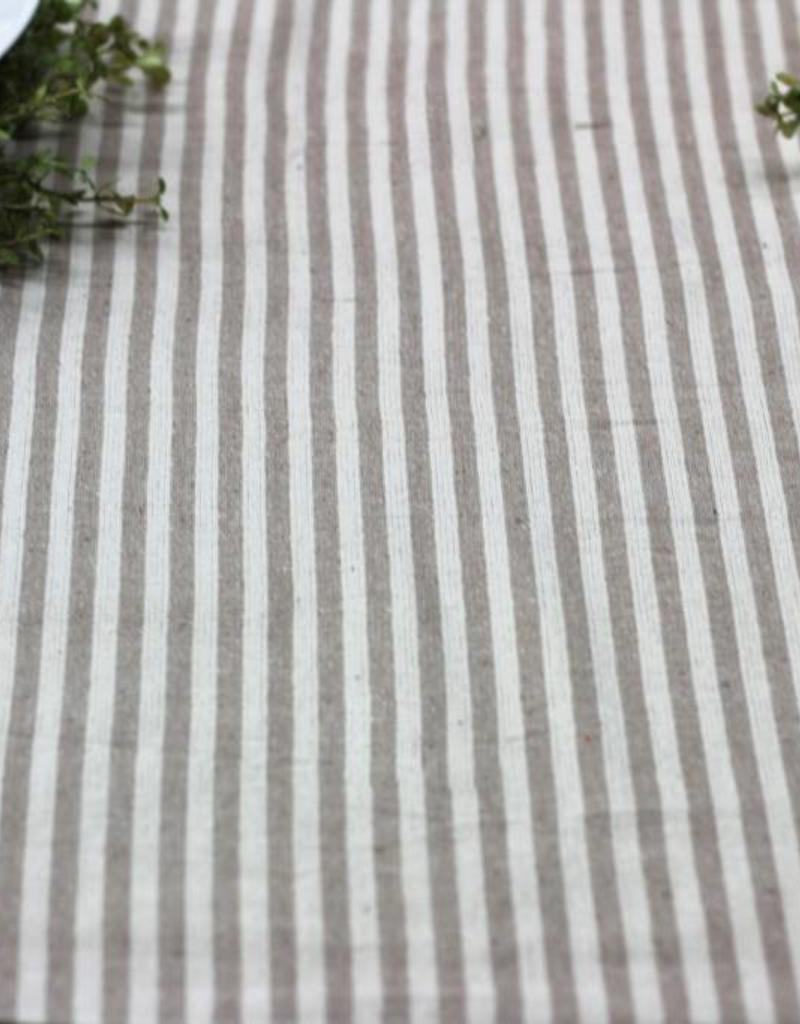 Tan & Cream Stripe Table  Runner